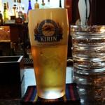 ばりお食堂 - 生ビール(一番搾り)