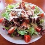 居酒屋SANUFA - 紅芋とカボチャのサラダ