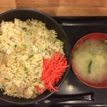 伝説のすた丼屋 - 炒飯飯増し730円