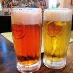 居酒屋SANUFA - 特製ハイビスカスオリオン生ビール&オリオン生ビール