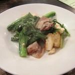 居酒屋SANUFA - からし菜と島豆腐のチャンプルー