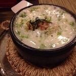 酒縁蕎亭 渉の盃 - 青のり湯豆腐。お好みで柚子胡椒。和風麻婆豆腐とのこと(辛くないけど!