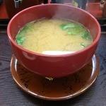 廻鮮寿司かね喜 - しじみの味噌汁
