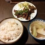 喜助分店 - 牛たん焼き定食(しお味)¥1320 +小口ねぎ¥54