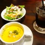39153074 - ライス+サラダ+スープ