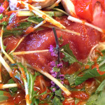 豚そば ぎんや - 穂紫蘇香る 冷製トマト汐そば 2015年5月