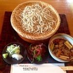 竹やぶ - たぬきそば汁あつ(つけめん)