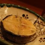 蕎麦切り 酒 大愚 - 賀茂茄子の田楽 ちょっと歯ごたえアリ