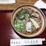 そば処ふしみ - 山菜そば(冷やし)