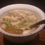 39160325 - すじ葱スープ。旨い!ご飯を入れたい!