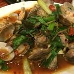 33區熱炒生猛海鮮 - あさりと野菜の炒め物