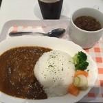 39166151 - インドカレー、スープ、アイスコーヒー
