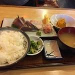 やまがた - 刺身定食700円(税込)