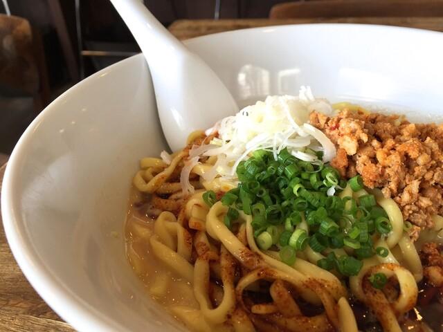 麺屋すみす - 汁なし担々麺 麺顔アップ