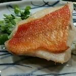 ひご久 - 金目鯛の焼き物(2015年6月)