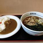 名代 箱根そば - 料理写真:肉そば&ミニカレー