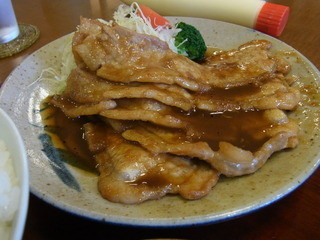 季節料理 なかはら - 2015.6)豚生姜焼き定食(900円)