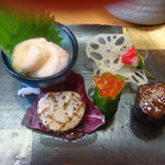 白水温泉 竹の倉山荘 - 料理写真:1.前菜