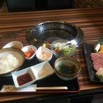 山形牛焼肉 北山 - 山形牛上焼肉ランチ¥1500