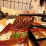 八沢川 - 野点弁当⑤  お造りの奥に潜んでいた烏賊焼