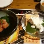 39183404 - たらこの山わさび漬け&ゴリラ豆腐