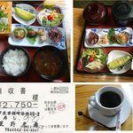 のも - 海鮮料理のも(笹寿司)お刺身定食(竹)1450円(税込)食彩品館.jp撮影