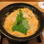 日本料理 太月 - 27年6月 ノドグロ卵とじ 長ネギ・三つ葉