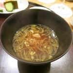 日本料理 太月 - 27年6月 葱味噌汁