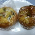 焼菓子 あいうえお - 買って来た「チーズカレー&オニオン」@180、「ブロッコリーグラタン風」@210