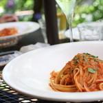 イル・リフージョ・ハヤマ - ワタリガニのトマトソースパスタ、ソースがおいしいです。