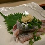 寿司久 - 手開きのイワシ刺し