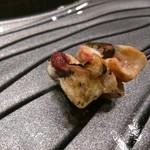 寿司久 - 甘海老の頭焼き