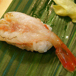 清寿司 - ボタンエビの炙り