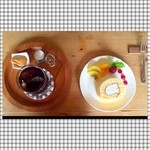 ミナモ - *ロールケーキ *アイスコーヒー