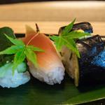 菊乃井 - 7-2)漬物寿司 茄子・胡瓜・茗荷