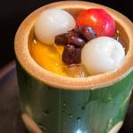 菊乃井 - 8-1)みつ豆 マンゴー メロン チェリー 白玉 寒天 小豆
