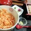 細島屋 - 料理写真:桜海老天ちらし丼とそばセット 1300円