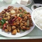 吉田飯店 - 鶏ネギ定食