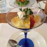 ビストロ ル・ボントン - 6月◆トウモロコシのムース 野菜とコンソメのジュレ