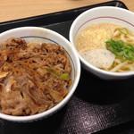 なか卯 - 和風牛丼並 小うどんはいから490円