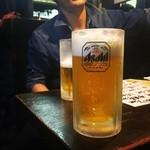 炭火やきとり 駅 - 生ビール