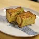 博多とーすと - 新作!厚焼きフレンチトーストkogane 外側カリッと中はしっとりの絶品!長崎のカステラのようなフレンチトーストです!