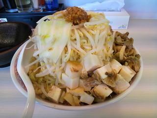 碧の豚二郎 - 濃厚ふじ麺ぶたぶたづくし中盛+野菜(限定)
