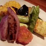 なかむら - 季節の野菜炭火焼