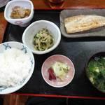 幸亭 - アジ焼き定食