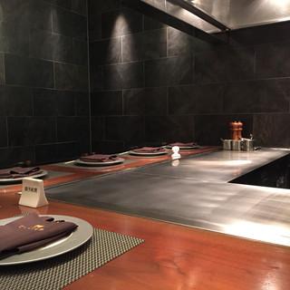 神戸プレジール - 鉄板焼きコーナー