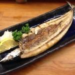 とんかつ 安右衛門 - 自家製 秋刀魚の一夜干し