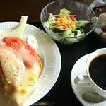 珈琲 蔵人珈蔵  - ハムチーズモーニング160円 蔵人ブレンド500円