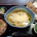 瀬戸内製麺710 - 特選素材のひやかけ&牛めし&ちくわ天(H27.6.21)