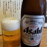 煮干しそば 虎空 - 201506 ビール中瓶450円は良心的
